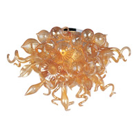 Mimi LED LED 34 inch Polished Chrome Semi Flush Mount Ceiling Light in Cognac