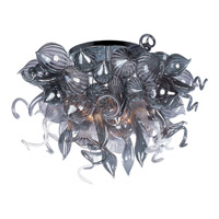 Mimi LED LED 34 inch Polished Chrome Semi Flush Mount Ceiling Light in Fume