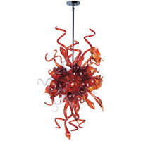 Mimi LED LED 25 inch Polished Chrome Single Pendant Ceiling Light in Root Beer
