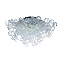 Taurus LED LED 33 inch Polished Chrome Semi Flush Mount Ceiling Light in Clear