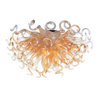 Taurus LED LED 33 inch Polished Chrome Semi-Flush Mount Ceiling Light in Cognac