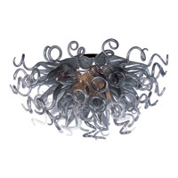 Taurus LED LED 33 inch Polished Chrome Semi Flush Mount Ceiling Light in Fume