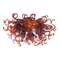 Taurus LED LED 33 inch Polished Chrome Semi Flush Mount Ceiling Light in Root Beer