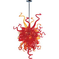 Maxim 39733SRPC Taurus LED LED 23 inch Polished Chrome Single Pendant Ceiling Light in Sunrise