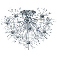 Starfire 8 Light 22 inch Polished Chrome Flush Mount Ceiling Light