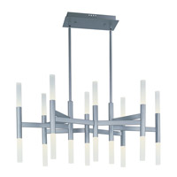 Pinnacle LED 19 inch Metallic Silver Single-Tier Chandelier Ceiling Light