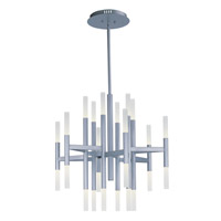 Pinnacle LED 34 inch Metallic Silver Single-Tier Chandelier Ceiling Light