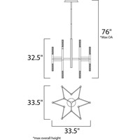 Maxim 39756FTBZ Pinnacle LED 34 inch Bronze Single-Tier Chandelier Ceiling Light alternative photo thumbnail