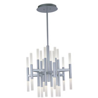 Pinnacle 24 Light 26 inch Metallic Silver Single-Tier Chandelier Ceiling Light