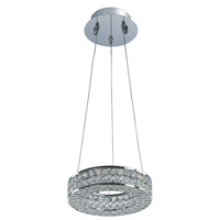 Eternity LED 1 Light 10 inch Polished Chrome Single Pendant Ceiling Light