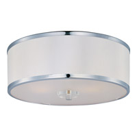 Metro 3 Light 16 inch Polished Chrome Flush Mount Ceiling Light