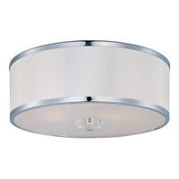 Maxim 39821BCWTPC Metro 3 Light 16 inch Polished Chrome Flush Mount Ceiling Light