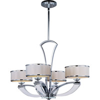 Maxim 39824BCWTPC Metro 4 Light 31 inch Polished Chrome Single Tier Chandelier Ceiling Light