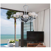 Metro 5 Light 34 inch Polished Chrome Single Tier Chandelier Ceiling Light
