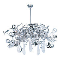 Maxim Lighting Tempest 8 Light Single Tier Chandelier in Polished Nickel 39844PN/CRY151