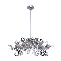 Tempest 9 Light 40 inch Polished Nickel Single Tier Chandelier Ceiling Light in Without Crystals