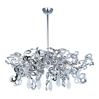 Maxim Lighting Tempest 9 Light Single Tier Chandelier in Polished Nickel 39846PN/CRY154