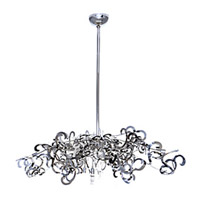 Maxim Lighting Tempest 9 Light Single Tier Chandelier in Polished Nickel 39847PN
