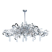 Maxim Lighting Tempest 9 Light Single Tier Chandelier in Polished Nickel 39847PN/CRY152