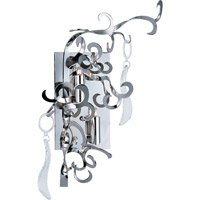 Tempest 2 Light 13 inch Polished Nickel Wall Sconce Wall Light in With Crystals, With Crystals (153)