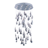 Maxim Lighting Rain 12 Light Flush Mount Chandelier in Polished Chrome 39850PCPC