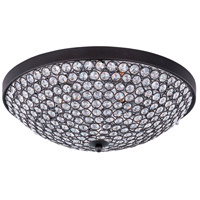 Maxim Lighting Glimmer 4 Light Flush Mount in Bronze 39871BCBZ