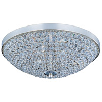 Maxim 39871BCPS Glimmer 4 Light 15 inch Plated Silver Flush Mount Ceiling Light