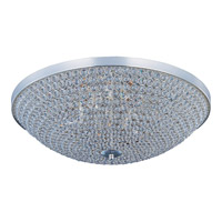Maxim 39872BCPS Glimmer 6 Light 19 inch Plated Silver Flush Mount Ceiling Light
