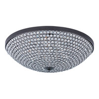 Maxim Lighting Glimmer 9 Light Flush Mount in Bronze 39873BCBZ