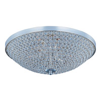 Glimmer 9 Light 22 inch Plated Silver Flush Mount Ceiling Light