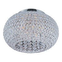 Glimmer 5 Light 15 inch Plated Silver Flush Mount Ceiling Light