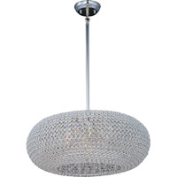 Maxim 39879BCPS Glimmer 9 Light 24 inch Plated Silver Pendant Ceiling Light