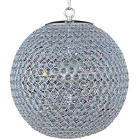 Glimmer 5 Light 16 inch Plated Silver Single Tier Chandelier Ceiling Light