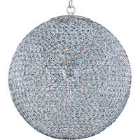 Glimmer 12 Light 24 inch Plated Silver Single Tier Chandelier Ceiling Light