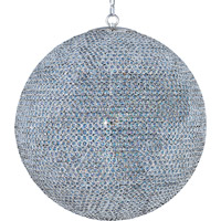 Glimmer 18 Light 40 inch Plated Silver Single Tier Chandelier Ceiling Light