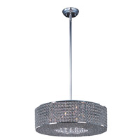 Glimmer 6 Light 16 inch Plated Silver Single Pendant Ceiling Light