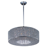 Glimmer 10 Light 22 inch Plated Silver Single Pendant Ceiling Light