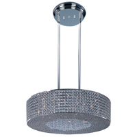 Glimmer 16 Light 28 inch Plated Silver Single Pendant Ceiling Light