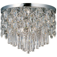 Jewel 12 Light 18 inch Polished Chrome Flush Mount Ceiling Light