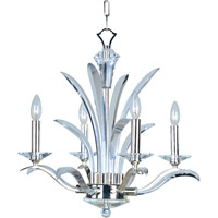 Paradise 4 Light 22 inch Plated Silver Mini Chandelier Ceiling Light