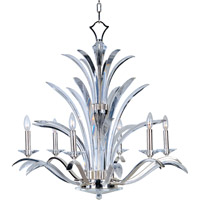 Maxim 39945BCPS Paradise 6 Light 34 inch Plated Silver Single Tier Chandelier Ceiling Light