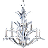 Maxim 39946BCPS Paradise 9 Light 38 inch Plated Silver Multi-Tier Chandelier Ceiling Light