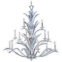 Paradise 15 Light 46 inch Plated Silver Multi-Tier Chandelier Ceiling Light