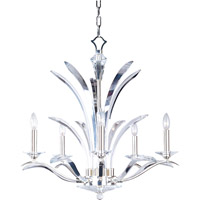 Paradise 5 Light 28 inch Plated Silver Single Tier Chandelier Ceiling Light