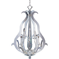 Maxim Lighting Passion 6 Light Entry Foyer Pendant in Plated Silver 39984BCPS photo thumbnail
