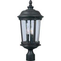 Maxim 40092CDBZ Dover VX 3 Light 26 inch Bronze Outdoor Pole/Post Lantern