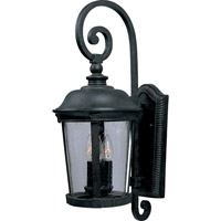 Maxim 40094CDBZ Dover VX 3 Light 25 inch Bronze Outdoor Wall Mount