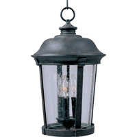Maxim 40099CDBZ Dover VX 3 Light 12 inch Bronze Outdoor Hanging Lantern