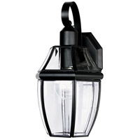 Maxim Lighting South Park 1 Light Outdoor Wall Mount in Black 4010CLBK