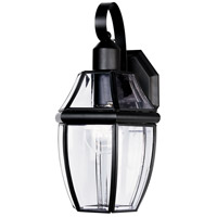 Maxim Lighting South Park 1 Light Outdoor Wall Mount in Black 4011CLBK